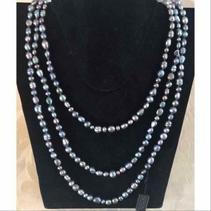 Honora Black Cultured Pearl Necklace